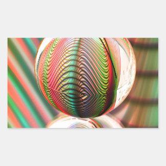 Sticker Rectangulaire Variation sur le thème