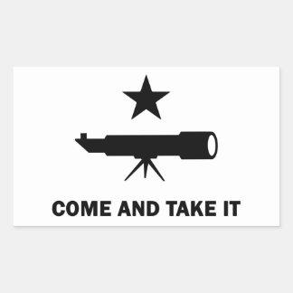 """Sticker Rectangulaire """"Venez le prendre"""" pour des scientifiques"""