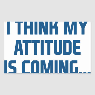 Sticker Rectangulaire Venir d'attitude