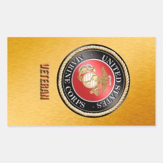 Sticker Rectangulaire Vétéran StickerUSMC, Marine Corps des États-Unis,