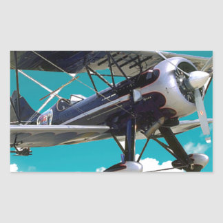 Sticker Rectangulaire Vieil avion