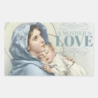 Sticker Rectangulaire Vierge Marie béni avec le bébé Jésus