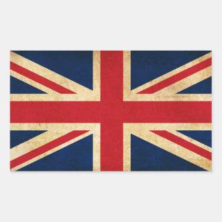 Sticker Rectangulaire Vieux drapeau grunge vintage Union Jack du