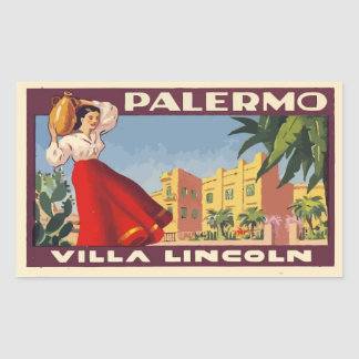Sticker Rectangulaire Villa Lincoln (Palermo - Italy)