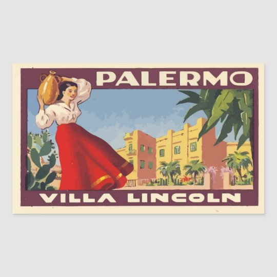 Sticker Rectangulaire Villa Lincoln (Palermo - Italy)