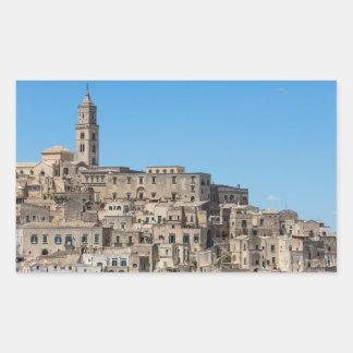 Sticker Rectangulaire Ville de Matera de Di de Sassi en Italie