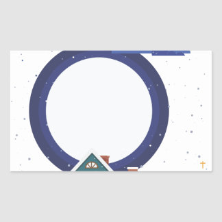 Sticker Rectangulaire ville de religion