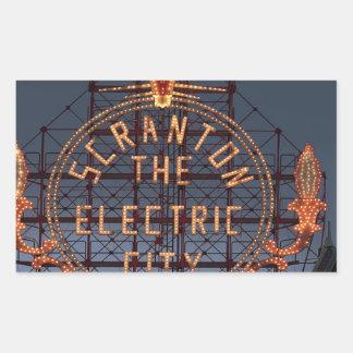Sticker Rectangulaire Ville électrique de Scranton
