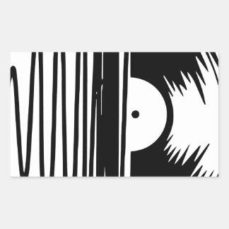 Sticker Rectangulaire vinil de musique