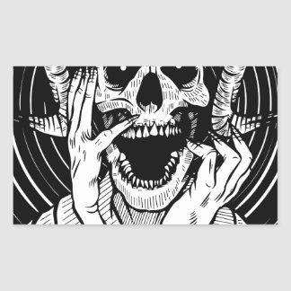 Sticker Rectangulaire visage de diable