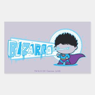 Sticker Rectangulaire Vision d'Arctique de Chibi Bizarro