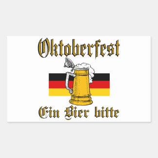 Sticker Rectangulaire Vitesse d'Oktoberfest