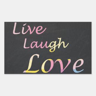 Sticker Rectangulaire Vivent l'amour de rire
