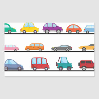Sticker Rectangulaire voitures