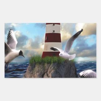 Sticker Rectangulaire Voler d'oiseaux de phare