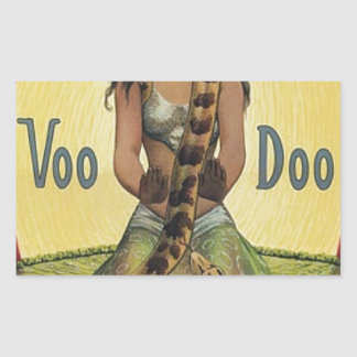 Sticker Rectangulaire Voo Doo