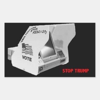 Sticker Rectangulaire Votez vers le bas le fascisme