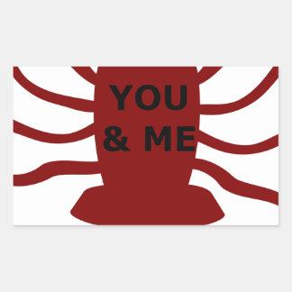 Sticker Rectangulaire Vous et moi êtes des homards
