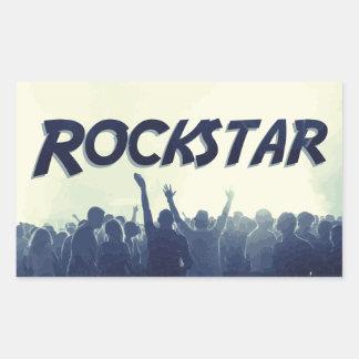 Sticker Rectangulaire Vous êtes un Rockstar !