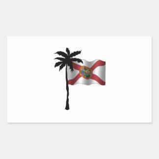 STICKER RECTANGULAIRE VOYAGE VERS LA FLORIDE
