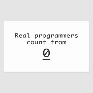 Sticker Rectangulaire Vrai compte de programmeurs de 0