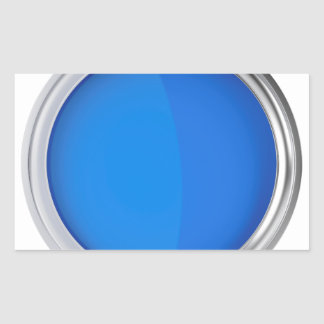Sticker Rectangulaire Vue supérieure de peinture bleue