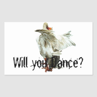 Sticker Rectangulaire Will you Dance?