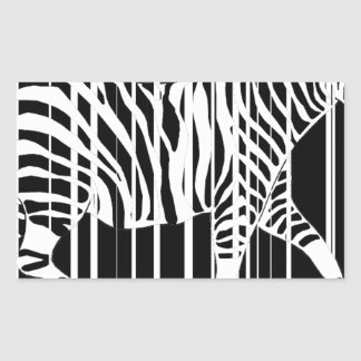 Sticker Rectangulaire zebra-barre2xl