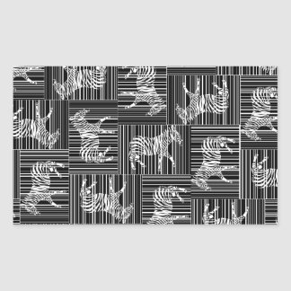 Sticker Rectangulaire zebra-mosaic