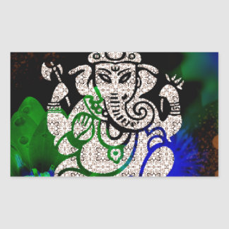 Sticker Rectangulaire Zen Ganesh