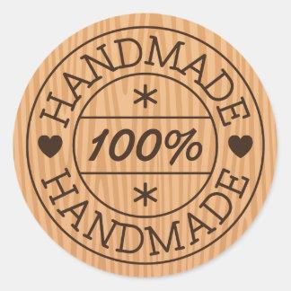 Sticker Rond 100% fait main ou nom de produit, timbre sur le