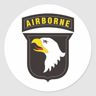 Sticker Rond 101st Emblème criard aéroporté d'Eagle