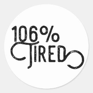 Sticker Rond 106% fatigué
