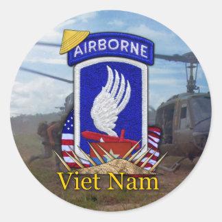 Sticker Rond 173rd guerre de Vietnam de brigade aéroportée