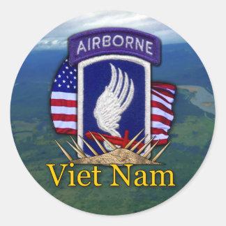 Sticker Rond 173rd Vétérinaires de vétérans du Vietnam de