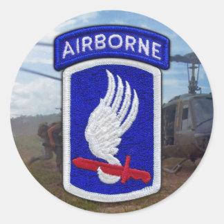 Sticker Rond 173rd Vétérinaires LRRP de vétérans de brigade