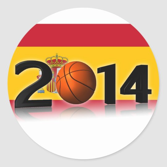 Sticker Rond 2014 Basketball World Championship