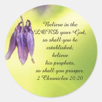 Sticker Rond 20h20 de Chronicles des textes 2 de bible