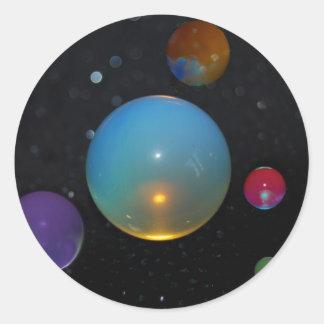 Sticker Rond 23ème Univers dans l'espace