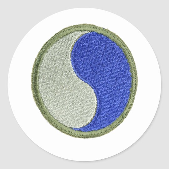 Sticker Rond 29th Infantry