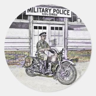 Sticker Rond 2ÈME GUERRE MONDIALE de policier militaire