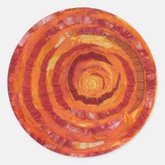 Sticker Rond 2nd-Sacral Chakra - Peinture-Tissu orange #2
