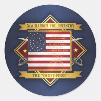 Sticker Rond 31ème Infanterie volontaire de l'Illinois