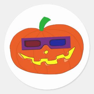 Sticker Rond 3D Pumpkin
