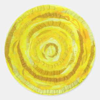 Sticker Rond 3rd-solar illustration jaune du plexus chakra-#2