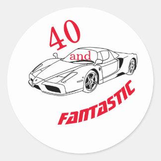 Sticker Rond 40 et anniversaire de typographie fantastique de |