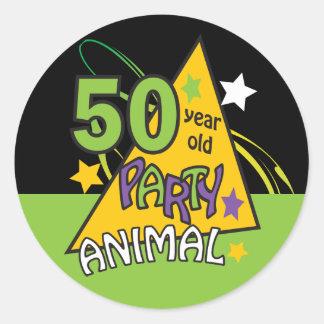 Sticker Rond 50 anniversaire du fêtard | d'ans cinquantième
