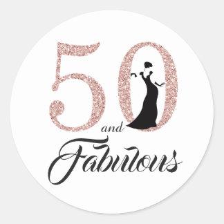 Sticker Rond 50 et anniversaire de typographie fabuleuse de |