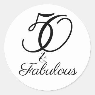 Sticker Rond 50 et célébration fabuleuse d'anniversaire