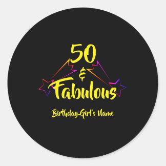 Sticker Rond 50 et fabuleux -